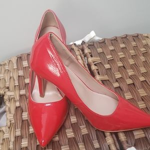 New Go jane red pathen leather pumps